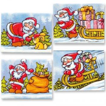 Plaquette rectangulaire Père Noël