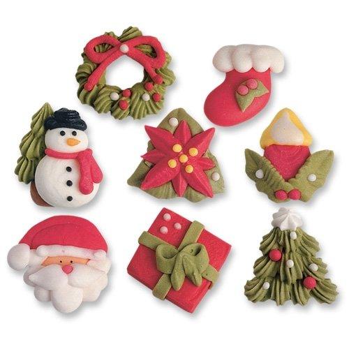 4 Figurines de Noël en sucre à plat