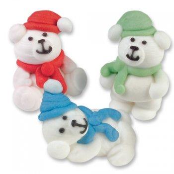 3 Oursons Blancs en sucre
