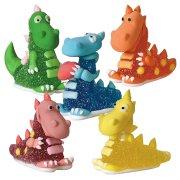 6 Dragons en sucre g�lifi�