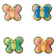 Minis papillons en sucre � plat