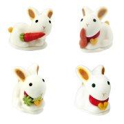 2 lapins en sucre 3D