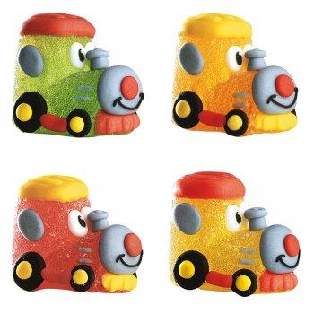 4 locomotives en sucre gélifié