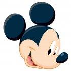 Silhouette Mickey  en azyme