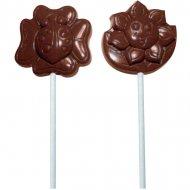 Moule 8 Sucettes en Chocolat Fleurs - Polycarbonate