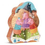 Puzzle - Les 3 petits cochons, 24 pièces