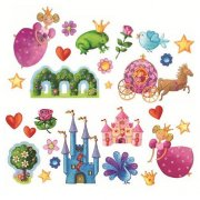 Stickers repositionnables - Princesse Marguerite