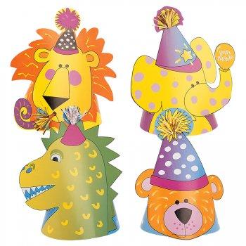 4 chapeaux animaux