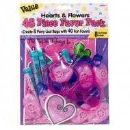 40 jouets coeurs et fleurs