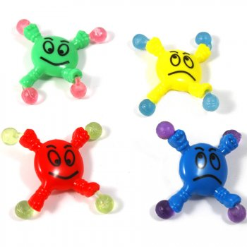 8 Figurines acrobate smiley