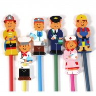 1 crayon gomme m�tiers