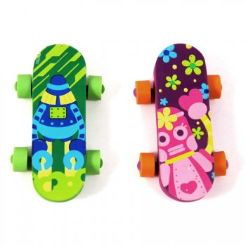 2 gommes skateboard