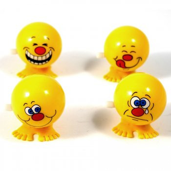 Smiley sauteur à remonter