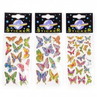Stickers Papillons Contours Or