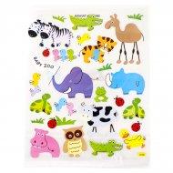 Grande planche stickers Animaux du monde