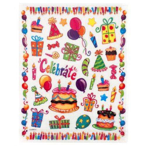 Grande planche de stickers Happy Birthday