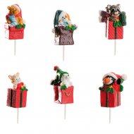 6 paquets cadeaux animaux à piquer