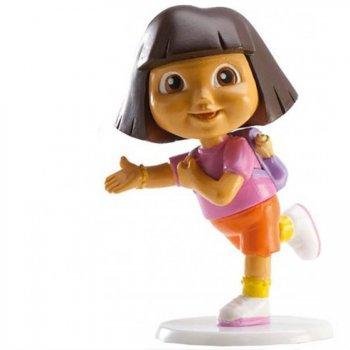 Figurine Dora sur socle - Plastique