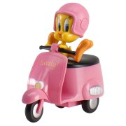 Figurine Titi en scooter rose