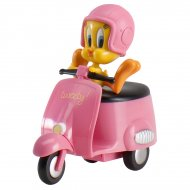 Figurine Titi en scooter rose - Plastique