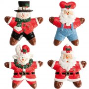 4 Figurines de Noël en plastique