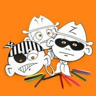 6 masques à décorer Garçon