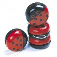 4 Yo-yo Coccinelle en bois