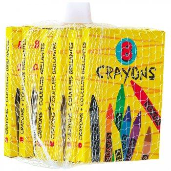 6 boites de 8 crayons gras