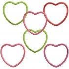 6 bracelets coeur