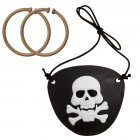 1 set cache-oeil et boucles d'oreilles pirate