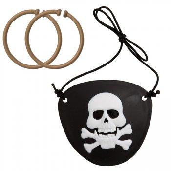 1 set  2 cache-oeil et boucles d oreilles pirate