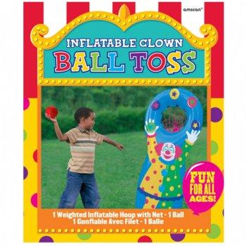 Jeu de lance balle clown gonflable