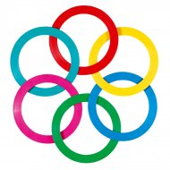 Anneaux de jonglage Multicolores