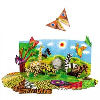 Kit création  d Origami   animaux de la jungle