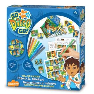 Autocollants Diego à colorier