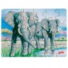 Puzzle 24 pièces Eléphants