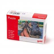 Puzzle 24 pièces Hippopotame