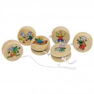 Yo-yo en bois décor animal