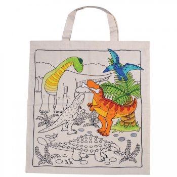 Grand sac personnalisable pré-imprimé Dinosaure