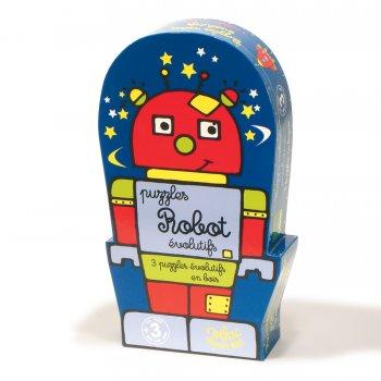 Boîte robot 3 puzzles évolutifs