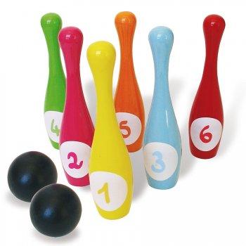 6 Quilles Bowling bois