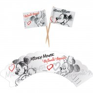 Kit 12 Wrappers et Déco Mickey et Minnie