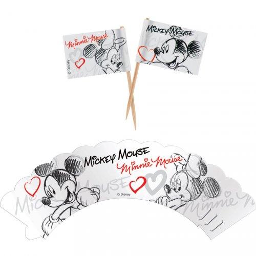 Kit 12 Wrappers et Déco Mickey et Minnie