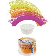 Kit cupcakes 3 couleurs Rose/Orange/jaune