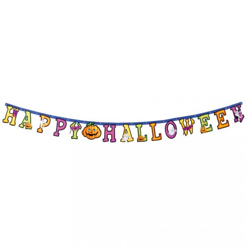 Guirlande Lettres Happy Halloween Party