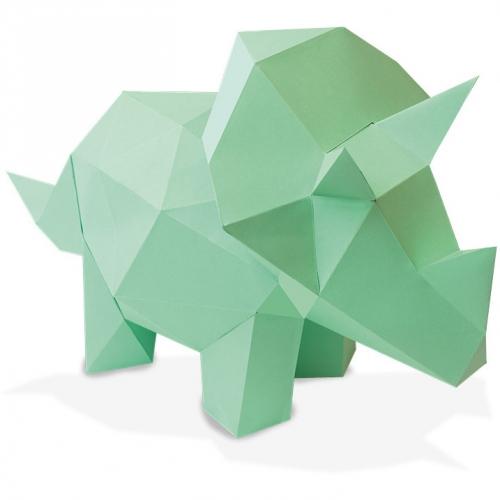 Trophée Petit Tricératops - Papier 3D