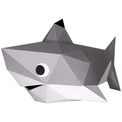 Trophée Petit Requin - Papier 3D