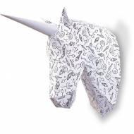 Trophée Petite Licorne à colorier - Papier 3D