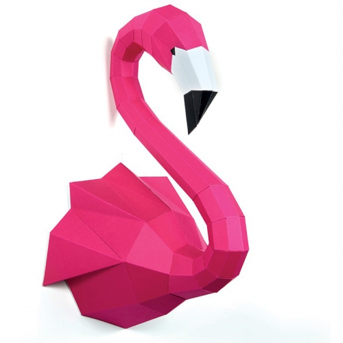 Trophée Flamant Rose - Papier 3D