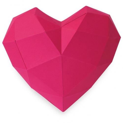 Petit Cœur Rose - Papier 3D